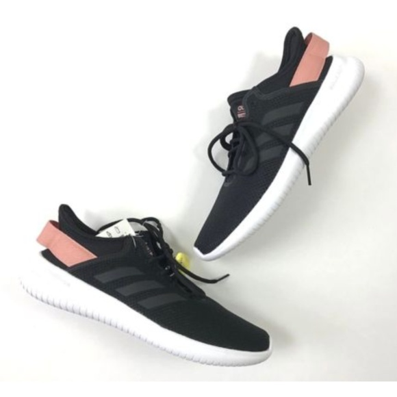 New Adidas Black Pink Cloudfoam QT Flex Shoes 596cc6612
